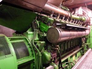 Gázmotor-generátor erőműegység